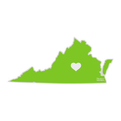 Virginia Heart Sticker (green)