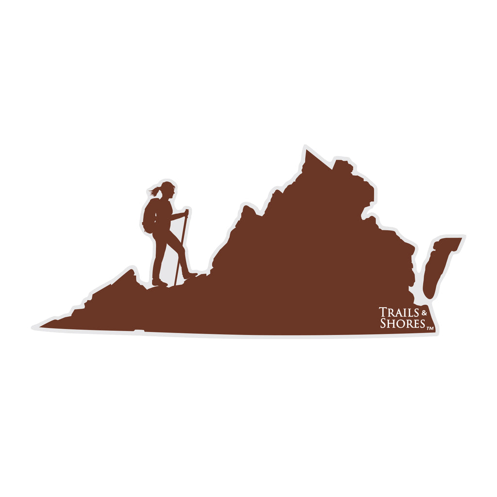 Virginia Hiker Sticker (female)