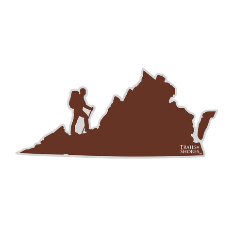 Virginia Hiker Sticker (male)