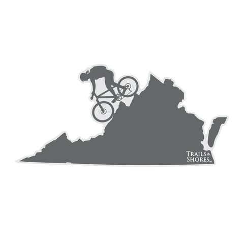 Virginia Mountain Biker Sticker (female)