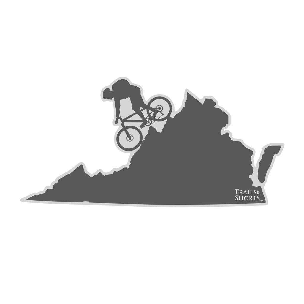 Virginia Mountain Biker Sticker (male)