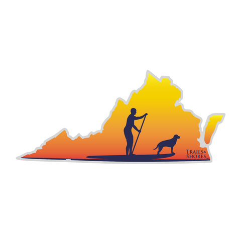 Virginia SUP Sticker