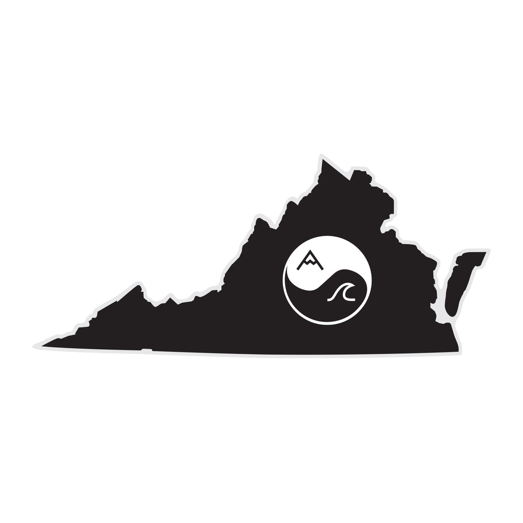Virginia Yin Yang Sticker