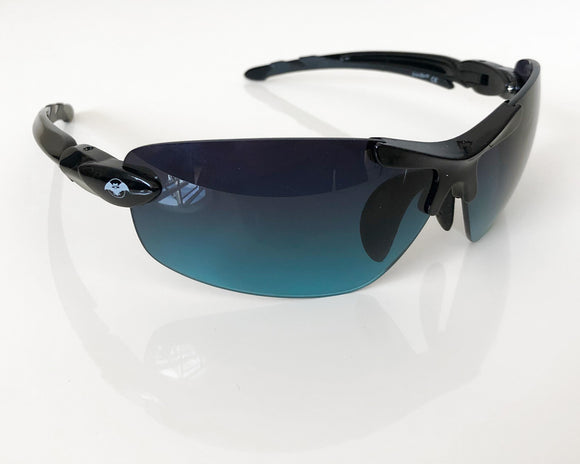 Solar Bat Sunglasses - Black & Black