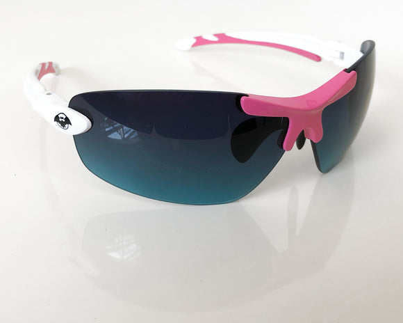 Solar Bat Sunglasses - White & Pink