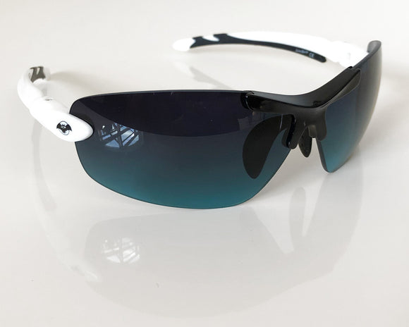 Solar Bat Sunglasses - Black & White