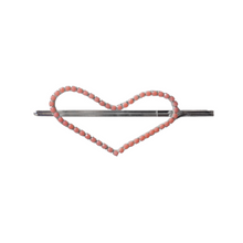 Load image into Gallery viewer, Heart shaped hair pin with pink rhinestones
