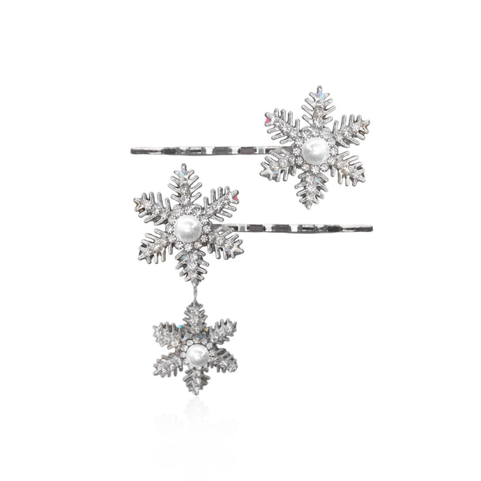 Trinity Snowflake Hair Pin Set