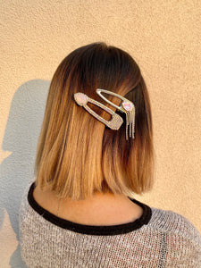 Dangling Rhinestone and Gem Hair Clip