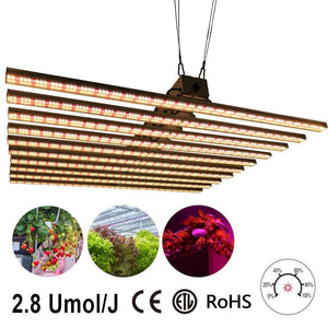 ECO Farm 400w 600w 800w 1000w 1200w Quantum Board LED Grow Light Dimmable Bar Fixture