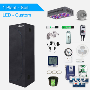 LED Erde Indoor-Growzelt-Komplettsets für 1 Pflanze