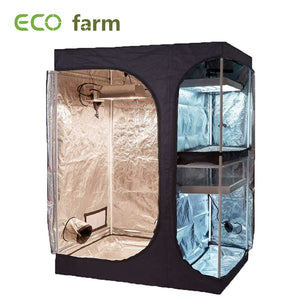 Eco Farm 5*4 Fuß (60*48*80 Zoll) 600D Growzelte - 2-in-1 Hütte