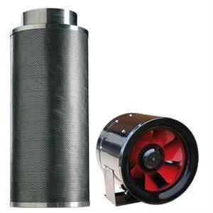 "Typhoon Combo MtAir 1040 Carbon Filter + Typhoon XL 10"" CFM Inline Fan"