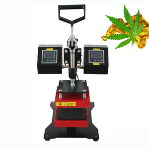 Free shipment 5x5 manual type rosin double sided heat press brik machine for hemp
