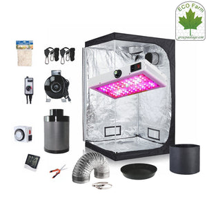 Eco Farm 3*3 Fuß (36*36*80 Zoll) DIY Grow-Paket