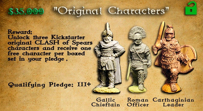 Individual Character ( set #1 Roman,Carthaginian or Gallic )