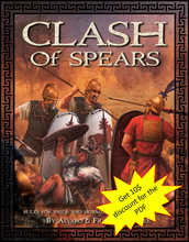 Load image into Gallery viewer, CLASH of Spears - Hardcover Rulebook ( plus PDF discount )