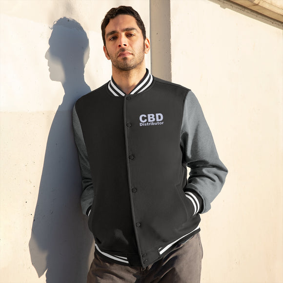 CBD Distributor  - Men's Varsity Jacket (up to Plus Size 4x)