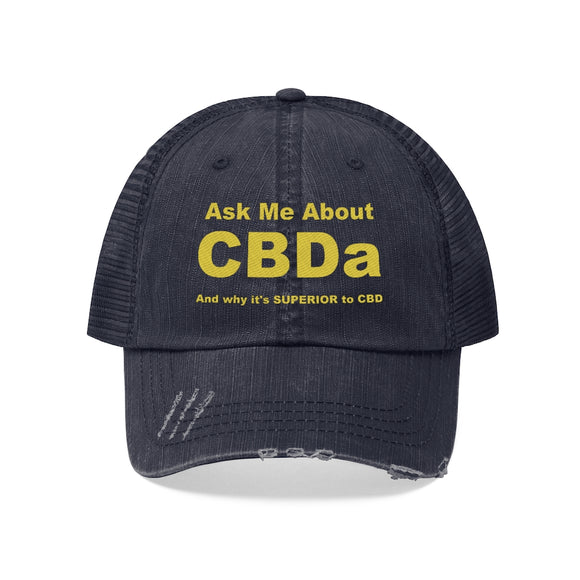 Ask Me About CBDa Unisex Trucker Hat