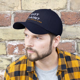 Got Pain? Ask Me About CBD (White & Yellow) - Embroidered Unisex Twill Hat