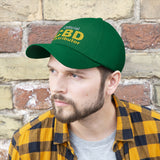 Official CBD Distributor (White & Yellow)  - Unisex Twill Hat