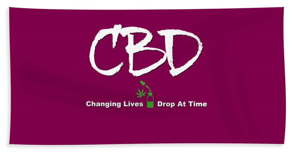 CBD Changing Lives One Drop At A Time - Beach Towel