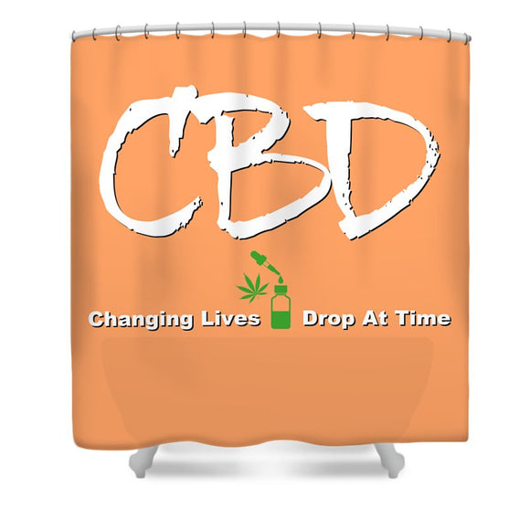 CBD Changing Lives One Drop At A Time - Shower Curtain