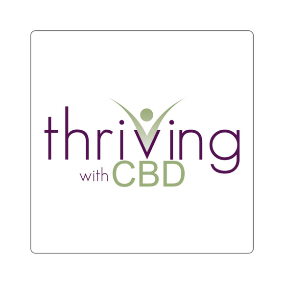 Thriving with CBD, Square Sticker