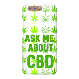 Ask Me About CBD Huawei (Hemp Leaf) Phone Cases