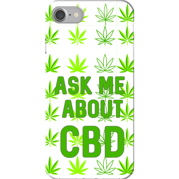 Ask Me About CBD (Hemp Leaf) iPhone Cases