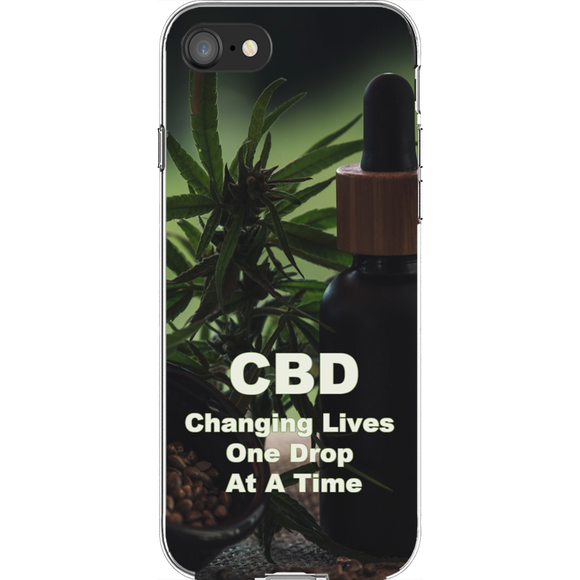 CBD Changing Lives One Drop At A Time iPhone Phone Cases