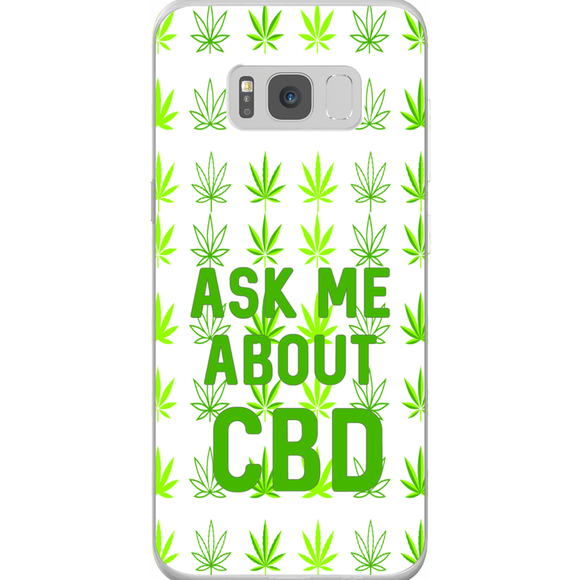 Ask Me About CBD (Hemp Leaf) Samsung Phone Cases