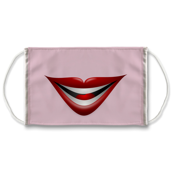 Cartoon Smile Lips - Face Mask
