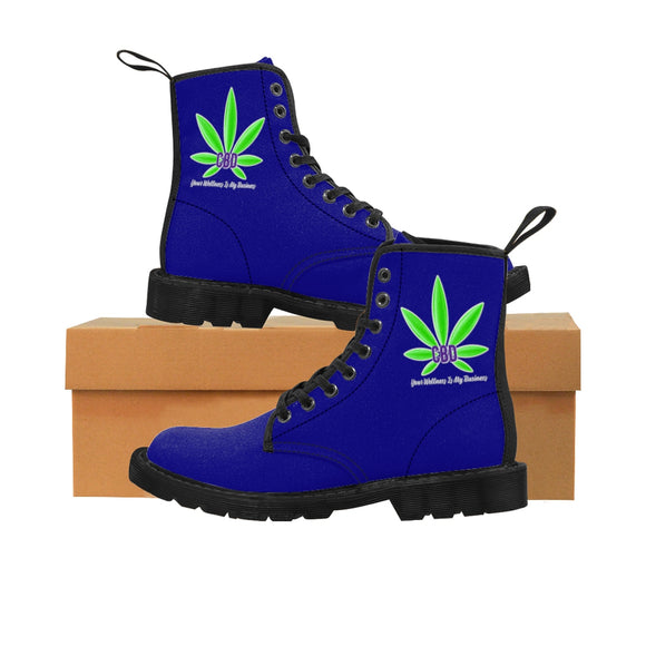 CBD, Your Wellness Is My Business Men's Canvas Boots