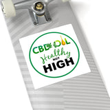 CBD Oil Healthy Not High Sticker