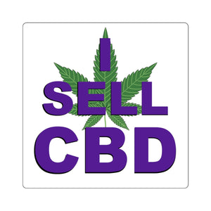I Sell CBD, Square Sticker
