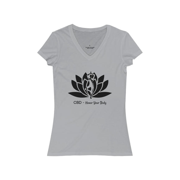 CBD Honor Your Body Women's Jersey Short Sleeve V-Neck Tee