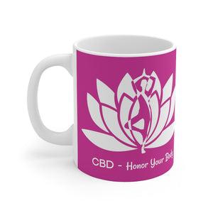 CBD Honor Your Body Ceramic Mug