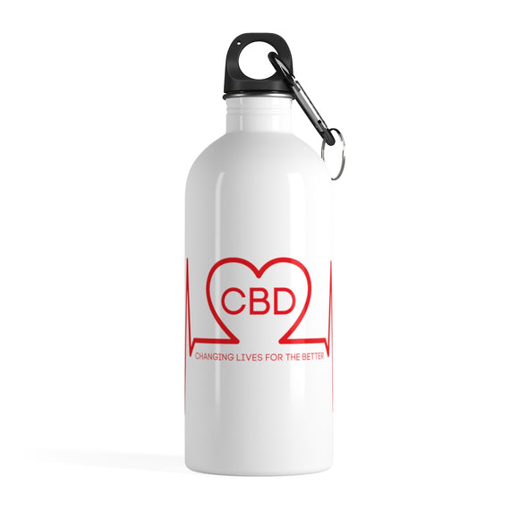 CBD Changing Lives For The Better Stainless Steel Water Bottle