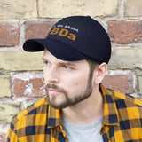 Ask Me About CBDa (White & Gold) - Unisex Twill Hat