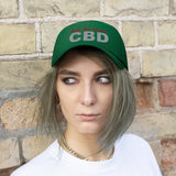 Ask Me About CBD (Red & Silver) - Unisex Twill Hat