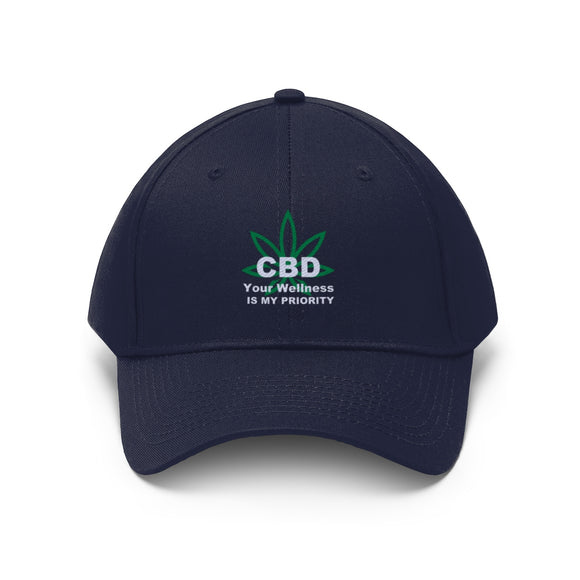 CBD, Your Wellness is My Priority - Unisex Twill Hat