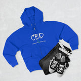 CUSTOM ORDER 2 Sided CBD Changing Lives One Drop at A Time / CBD Curious Unisex Premium Full Zip Hoodie (plus size to 2x)