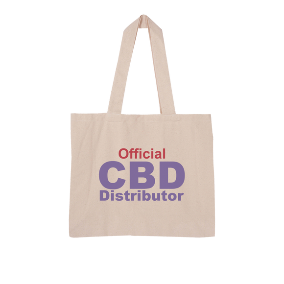Official CBD Distributor purple Large Organic Tote Bag