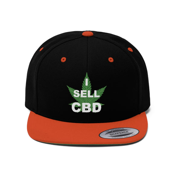 I Sell CBD Unisex Flat Bill Hat