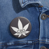 CBD Distributor, Charcoal,  Pin Button