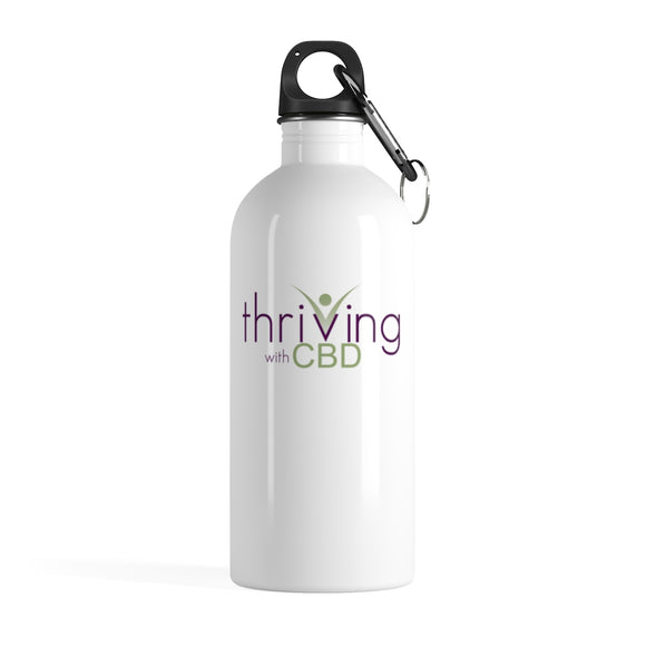 Thriving With CBD -  Stainless Steel Water Bottle