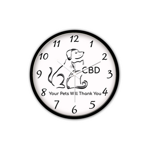 CBD, Your Pets Will Thank You - Non-Ticking Silent Wall Clock (Black)