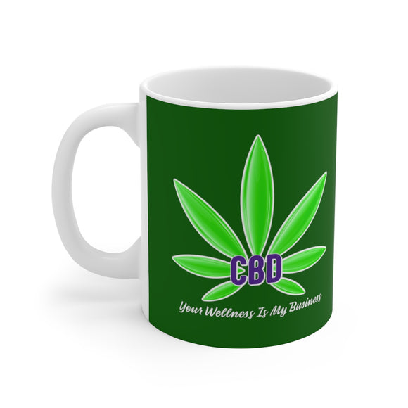 CBD Your Wellness Is My Business Ceramic Mug