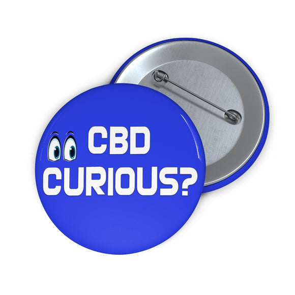 CBD Curious?,  Pin Button